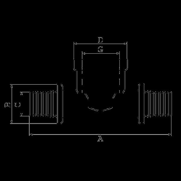 Тройник натяжной с внутренней резьбой SFT31-32
