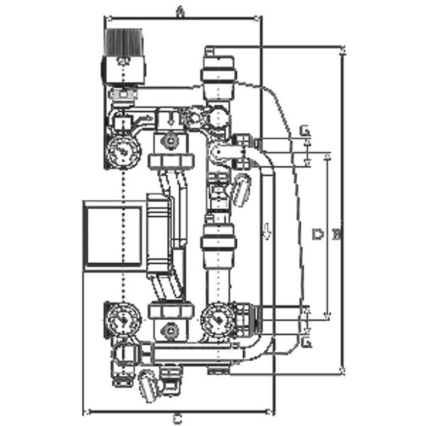 Насосная группа для панельного отопления SG21